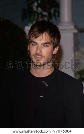 Jan 23, 2005; Los Angeles, CA: Actor IAN SOMERHALDER at ABC TV's All Star Party on the Desperate Housewive lot at Universal Studios, Hollywood. - stock photo