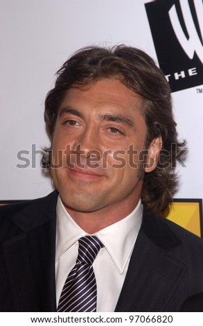 Jan 10, 2005; Los Angeles, CA:  Actor JAVIER BARDEM at the 10th Annual Critcs' Choice Awards at the Wiltern Theatre, Los Angeles. - stock photo