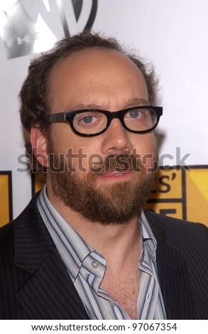 Jan 10, 2005; Los Angeles, CA:  Actor PAUL GIAMATTI at the 10th Annual Critcs' Choice Awards at the Wiltern Theatre, Los Angeles. - stock photo