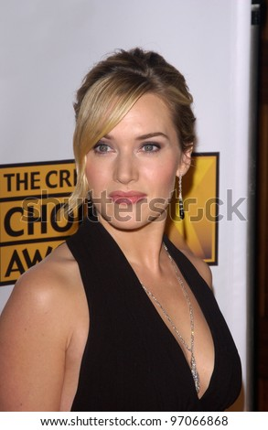 Jan 10, 2005; Los Angeles, CA: Actress KATE WINSLET at the 10th Annual Critcs' Choice Awards at the Wiltern Theatre, Los Angeles. - stock photo