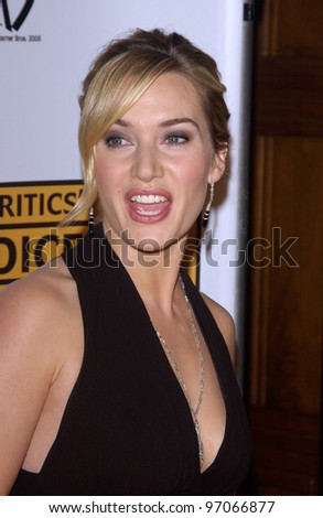Jan 10, 2005; Los Angeles, CA: Actress KATE WINSLET at the 10th Annual Critcs' Choice Awards at the Wiltern Theatre, Los Angeles.