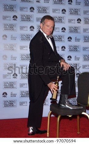 Jan 16, 2005; Los Angeles, CA: ROBIN WILLIAMS at the 62nd Annual Golden Globe Awards at the beverly Hilton Hotel. - stock photo