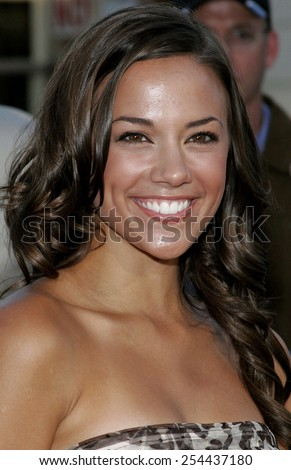 "Jana Kramer attends the Los Angeles Premiere of ""Click"" held at the Mann's Village Theater in Westwood, California on June 14, 2006."