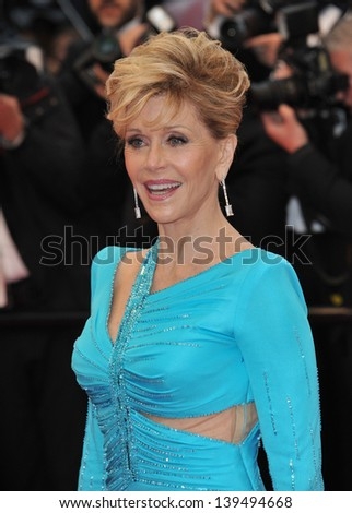 "Jane Fonda at the gala premiere of ""Jimmy P. Psychotherapy of a Plains Indian"" in competition at the 66th Festival de Cannes. May 18, 2013  Cannes, France"
