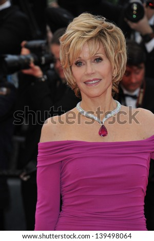 "Jane Fonda at the gala screening for ""Inside Llewyn Devis"" in competition at the 66th Festival de Cannes. May 19, 2013  Cannes, France"