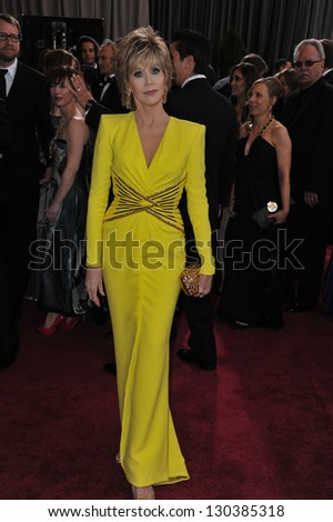 Jane Fonda at the 85th Academy Awards at the Dolby Theatre, Hollywood. February 24, 2013  Los Angeles, CA Picture: Paul Smith - stock photo