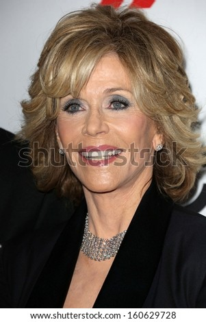 Jane Fonda at the 17th Annual Hollywood Film Awards Arrivals, Beverly Hilton Hotel, Beverly Hills, CA 10-21-13 - stock photo