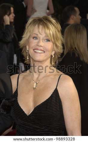 JANE FONDA & date at the 61st Annual Golden Globe Awards at the Beverly Hilton Hotel, Beverly Hills, CA. January 25, 2004