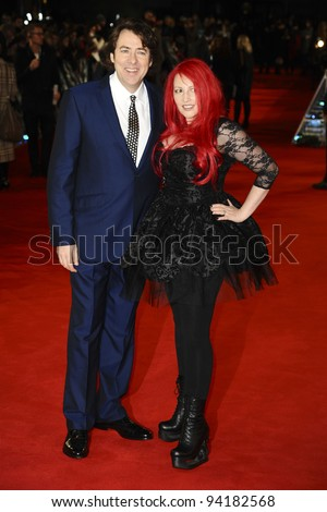 "Jane Goldman and husband, Jonathan Ross arriving for the premiere of ""The Woman in Black"" at the Royal Festival Hall, South Bank, London.  24/01/2012 Picture by: Steve Vas / Featureflash"