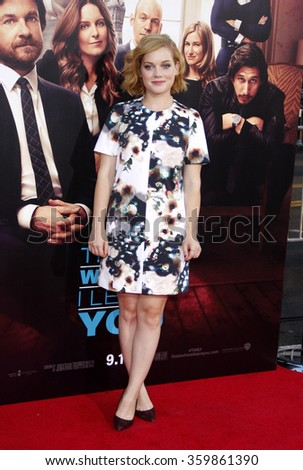 Jane Levy at the Los Angeles premiere of 'This Is Where I Leave You' held at the TCL Chinese Theatre in Los Angeles, USA on September 15, 2014.  - stock photo
