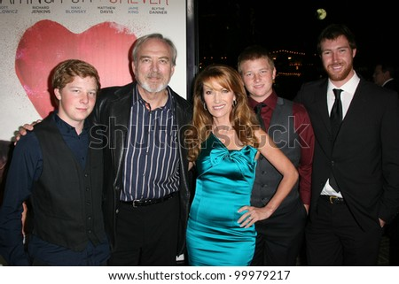 "Jane Seymour with James Keach and family at the Premiere Of ""Waiting For Forever,"" Pacific Theaters, Los Angeles, CA 02-01-11"