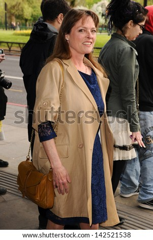 Janet Ellis arriving for the Sony Radio Awards 2013 at the Grosvenor House Hotel, London. 14/05/2013