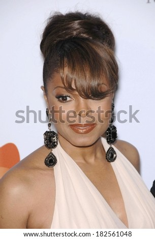 Janet Jackson at Pre-Grammy Party for Clive Davis, Beverly Hilton Hotel, Los Angeles, CA, February 09, 2008 - stock photo
