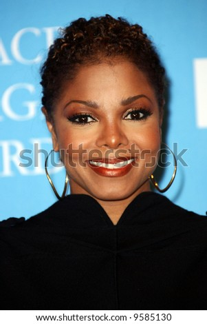 Janet Jackson at the 39th NAACP Image Awards  held at the SHrine Auditorium, Los Angeles - stock photo