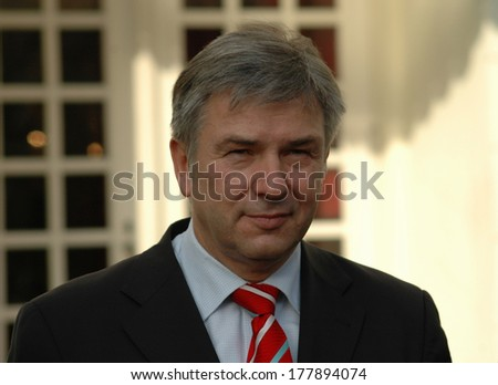 "JANUARY 9, 2006 - BERLIN: Klaus Wowereit at the presentation of the new director of the ""Deutsches Theater"" (German Theater), Berlin-Mitte."