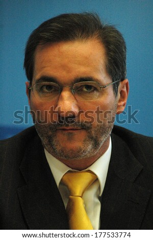 JANUARY 15, 2005 - BERLIN: Matthias Platzeck - press conference after a meeting of the prime ministers of Berlin and Brandenburg in Berlin.