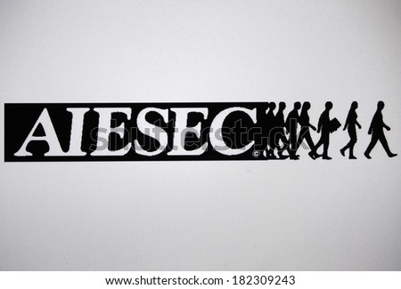 "JANUARY 27, 2014 - BERLIN: the logo of the brand ""AIESEC""."