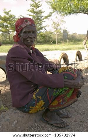 JANUARY 2007 - Black woman at the Pepo La Tumaini Jangwani, HIV/AIDS Community Rehabilitation Program, Orphanage & Clinic. Nairobi, Kenya, Africa - stock photo
