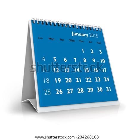 January 2015 Calendar - stock photo