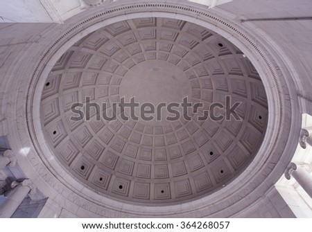 JANUARY 12TH 2015 WASHINGTON DC. Thomas Jefferson memorial dome. Editorial image only