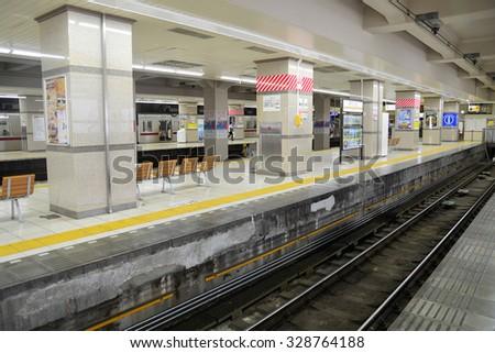 JAPAN - Ausust 19,2015 : Tobu Railway trains on Tobu Asakusa, Tokyo Japan - stock photo