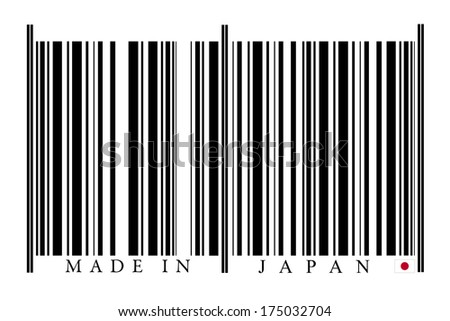 Japan Barcode on white background