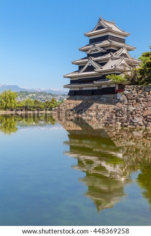 Japan castle ,Matsumoto Castle , One of Japan's premier historic castles
