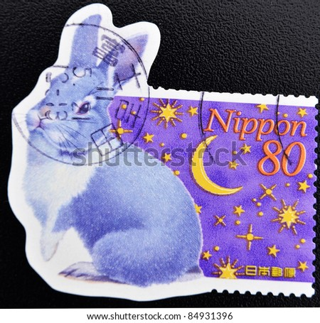 JAPAN - CIRCA 2000: A stamp printed in Japan shows a rabbit, circa 2000
