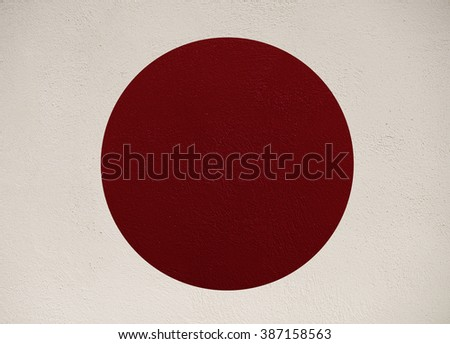 Japan flag texture background