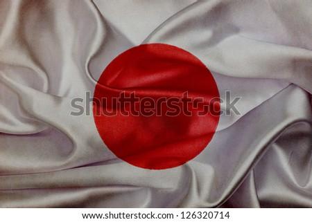 Japan grunge waving flag - stock photo