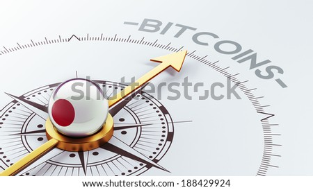Japan High Resolution Bitcoin Concept - stock photo