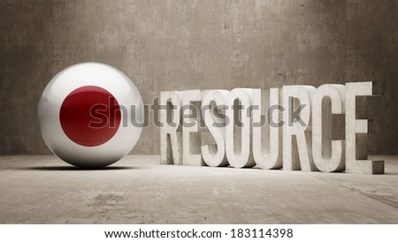Japan High Resolution Resource Concept - stock photo