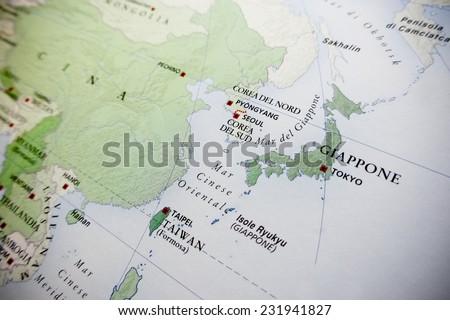 Korea Japan Map Stock Images RoyaltyFree Images Vectors - Japan map view