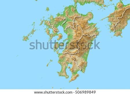 Japan Map Kyushu Stock Illustration Shutterstock - Japan map kyushu