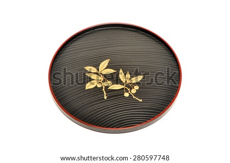 Japan style tray - stock photo
