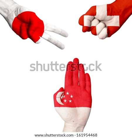 Japan Switzerland Singapore rock-paper-scissors