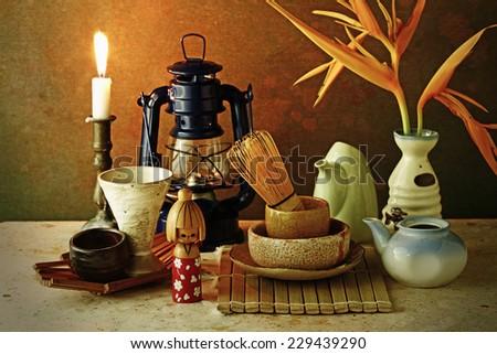 Japan tradition tea ceremony - stock photo