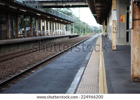 japan train station - stock photo