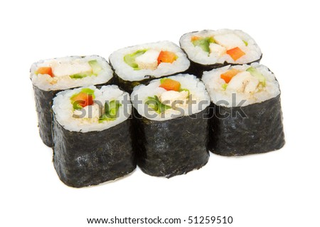 japan trditional food - roll isolated