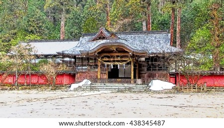 Japanese ancient building