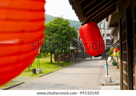 japanese ancient street view - stock photo