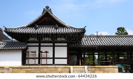 Japanese architecture (temples of Kyoto) - stock photo