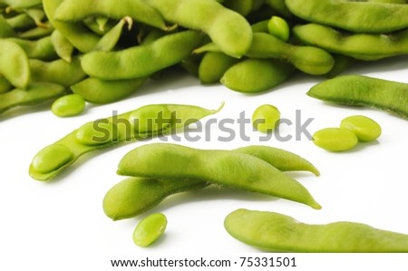 japanese bean on white
