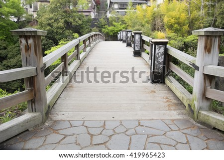 Japanese Bridge over the River