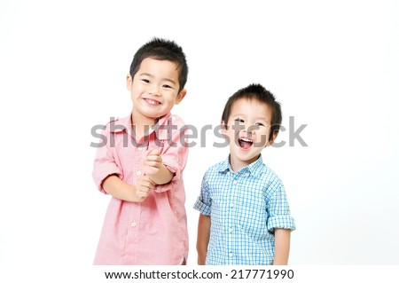 Japanese brother - stock photo