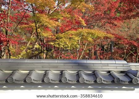 Japanese Buddhism Temple named Daigo-Ji Temple in Autumn Season, Kyoto, Japan - stock photo