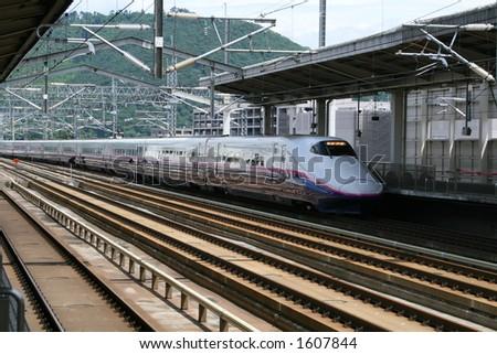 Japanese Bullet Train - stock photo