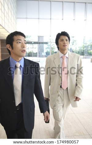 Japanese Businessman on the move