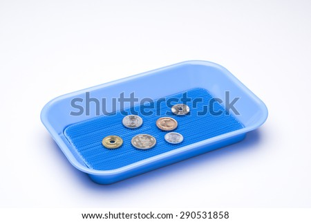 japanese coins in payment tray