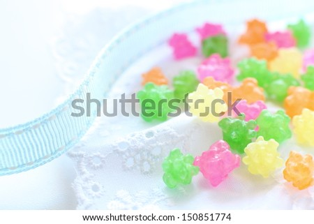 Japanese confectionery, traditional candy Konpeito - stock photo